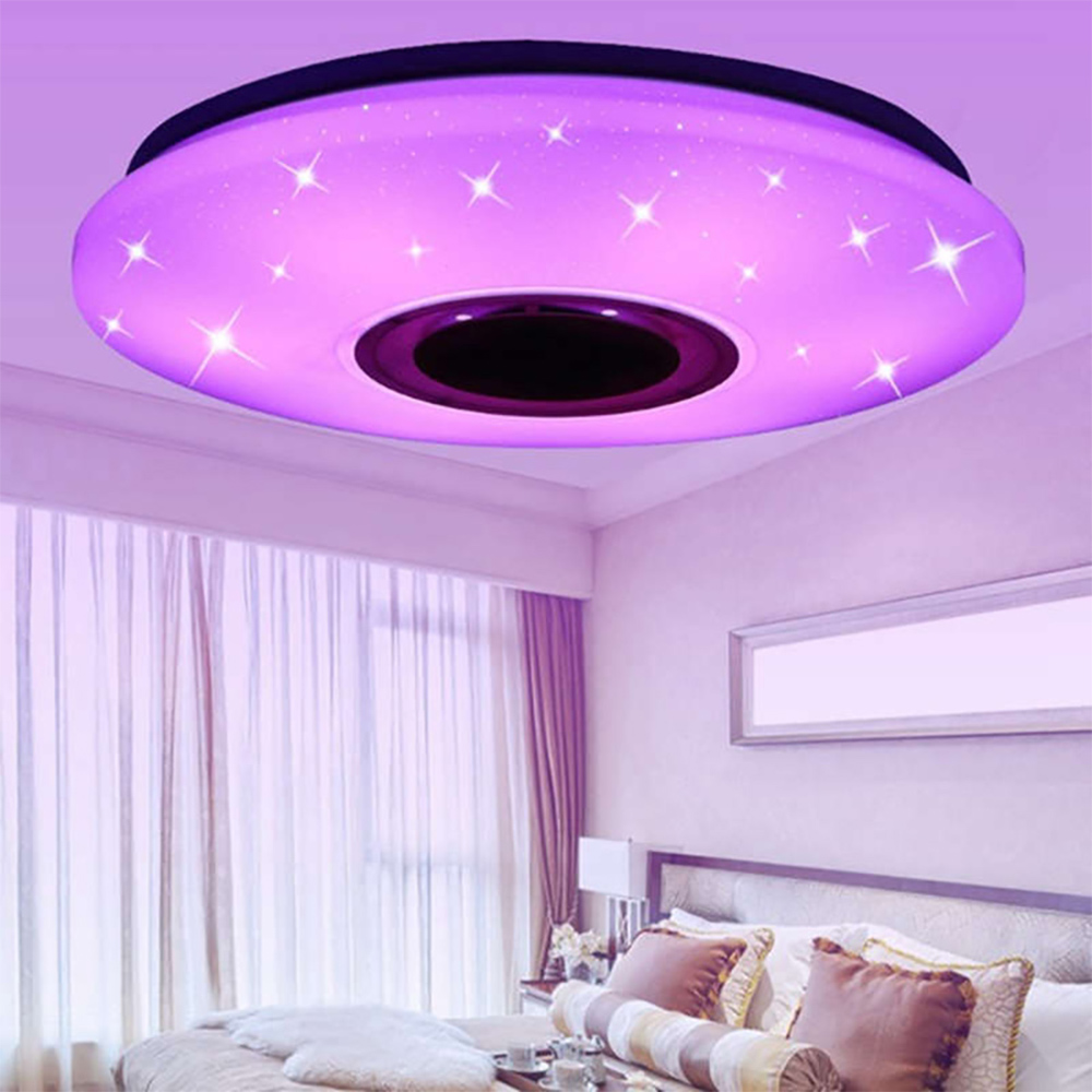 SUNYIMA Bluetooth Music  Led Ceiling Light Star Point 24W 36W 60W Remote Control Colorful LED Color Changing Light