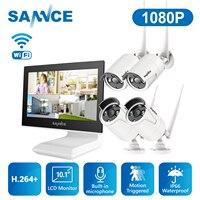 SANNCE 4 Kanal Wifi 1080P ip kamera NVR CCTV Drahtlose Kamera System 4CH wifi NVR kit wifi NVR kits CCTV kit 1TB HDD
