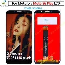 Ban Đầu Màn Hình LCD Cho Motorola Moto E6 Chơi Màn Hình Hiển Thị LCD Bộ Số Hóa Màn Hình Cảm Ứng XT2029 Hội Linh Kiện Thay Thế Cho Moto E6 Chơi màn Hình LCD
