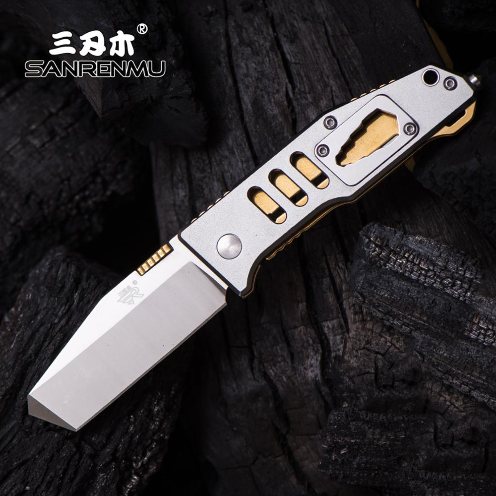 SANRENMU SRM NEW 7046 Pocket Folding Knife 8cr13mov Blade Outdoor Camping Rescue Survival Hunting Multi-function Tool EDC