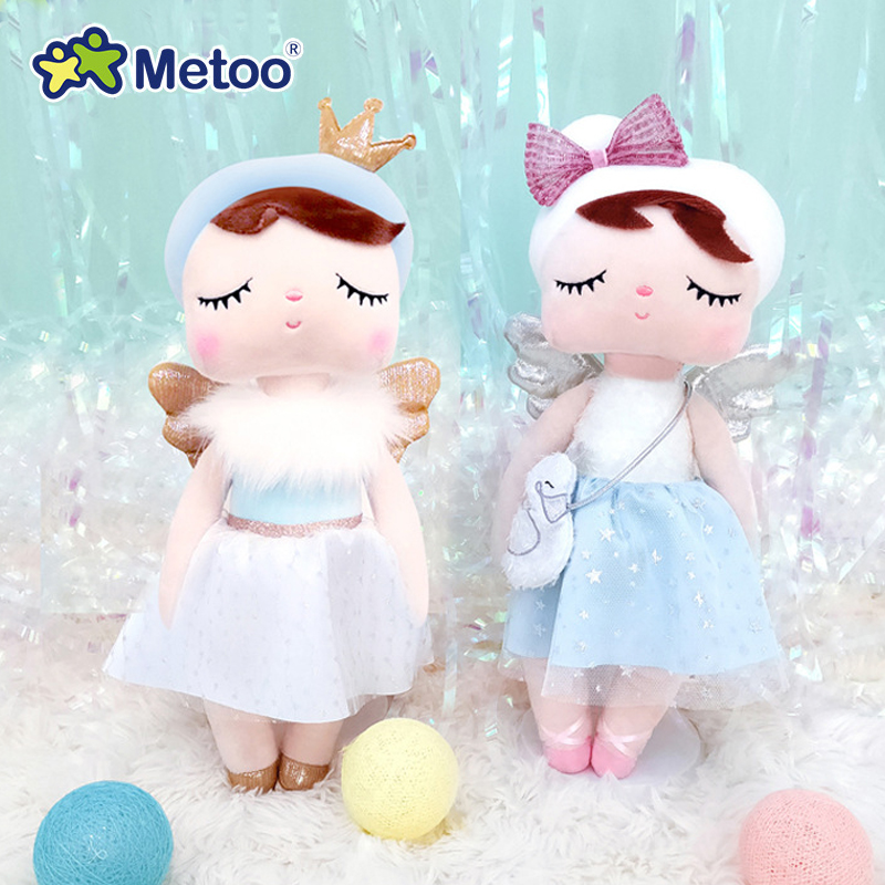 Newest Metoo Doll Stuffed Toys For Girl Baby Cute Beautiful Angel Angela Plush Animals For Kids【Original Boxes】