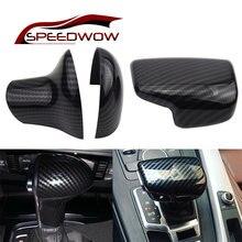 Speedwow наклейка на крышку из углеродного волокна для audi