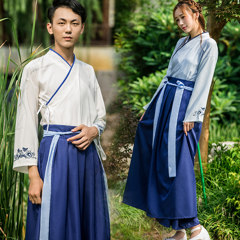 Hanfu Dress Female  Ancient Chinese Costume Kung Fu Dance Outfit  Hanfu Man Folk Dress Chinese Couple Dress Festival Outfit SL12