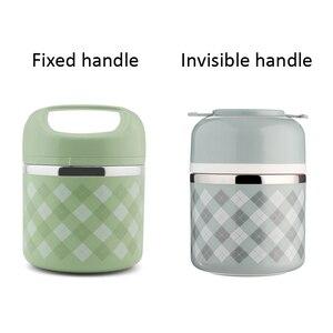 Image 3 - ポータブルステンレス鋼の熱弁当箱オフィス弁当漏れ防止魔法瓶弁当箱食品容器