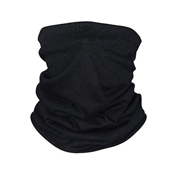 Black Face Mask Scarf Outdoor Motorcycle Mouth Mask Windproof Seamless Multifunction Sports Scarf Neck Tube Dust Riding Mask