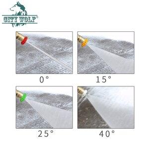 Image 5 - 7 색 금속 노즐 고압 세척기 스테인레스 스틸 퀵 노즐 팁 0 15 25 40 비누 노즐 280bar 4000psi