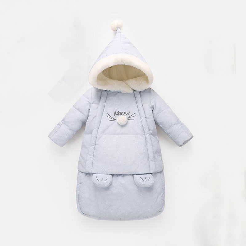 Wool Sleeping Bag Baby Winter Full Sleep Baby Sleep Sack 75*34cm Blue And Pink Stroller Warm Bag For Baby