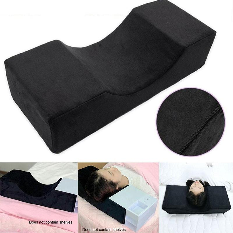 Black Soft Eyelash Extension Pillow Neck Support Makeup Accessories Grafted Eyelashes Flannel Pillows For Beauty Salon Use