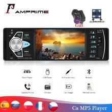 Amprime Kit multimídia automotivo 4022D com controle remoto, 4,1 polegadas, 1 Din, para carro, estéreo, USB, AUX FM, tocador de áudio, estação de rádio