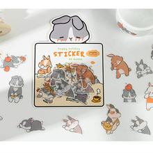 New Cute character diary Paper sticker Scrapbooking Decoration label 1 lot = 16 packs Wholesale
