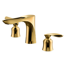 Mirror Finishing Electroplate Silver/Gold/Black Basin Mixer Tap for Sink Bathroom Dual Handle Hot&Cold Water Faucet