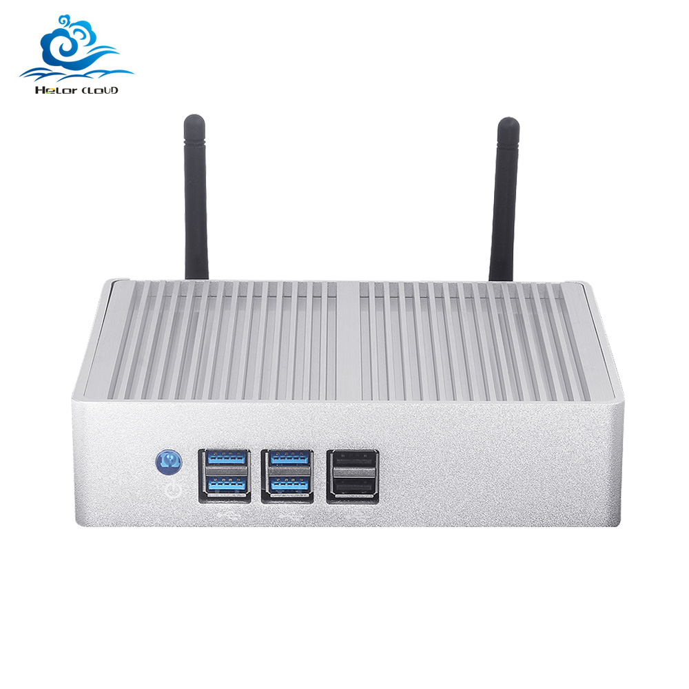 Fanless Mini PC Core I7 4500U I3 4010Y I5 4210Y 1080P HDMI Wifi 8*USB HD Graphics 4200 Desktop Mini Computer Office Gaming PC