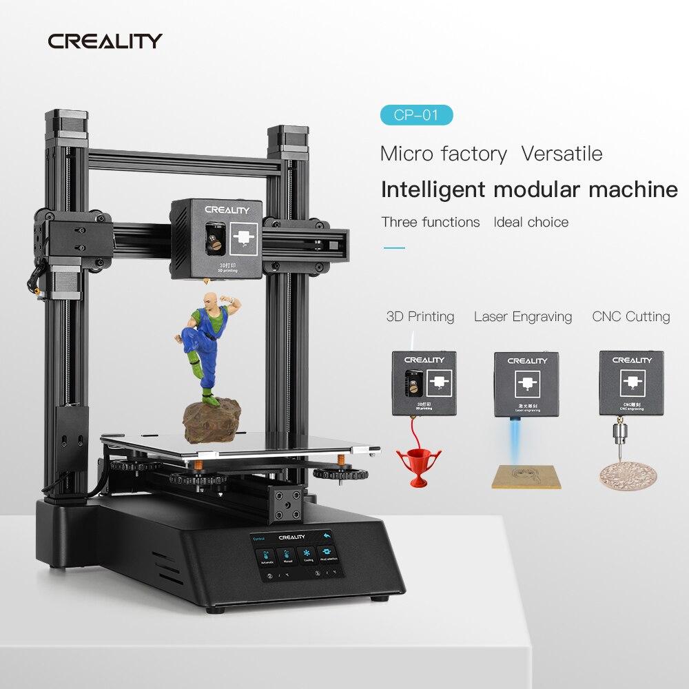 Nouvelle CP-01 imprimante 3D gravure Laser CNC fonction de découpe 3 en 1 écran tactile 3d imprimante kit de bricolage 5500mw crealité 3D