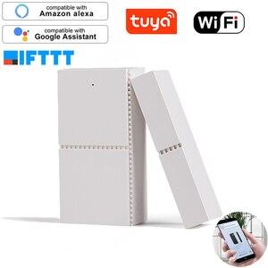 Image 1 - Tuya Smart WIFI Magnetic Door Window Sensor Open Alarm Entry Alert Security Detector Remote Control Smart Life Alexa Google Home