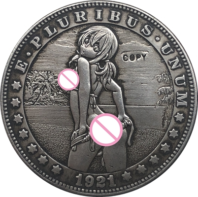 Hobo Nickel  1921-D USA Morgan Dollar COIN COPY  Type 95