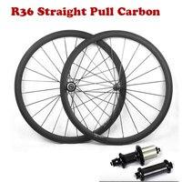 Super Licht Carbon Rennrad Laufradsatz 700C 38/50/60/88mm mit Gerade Pull R36 Carbon hub Basalt Brems Oberfläche Fahrrad Räder-in Fahrrad-Rad aus Sport und Unterhaltung bei