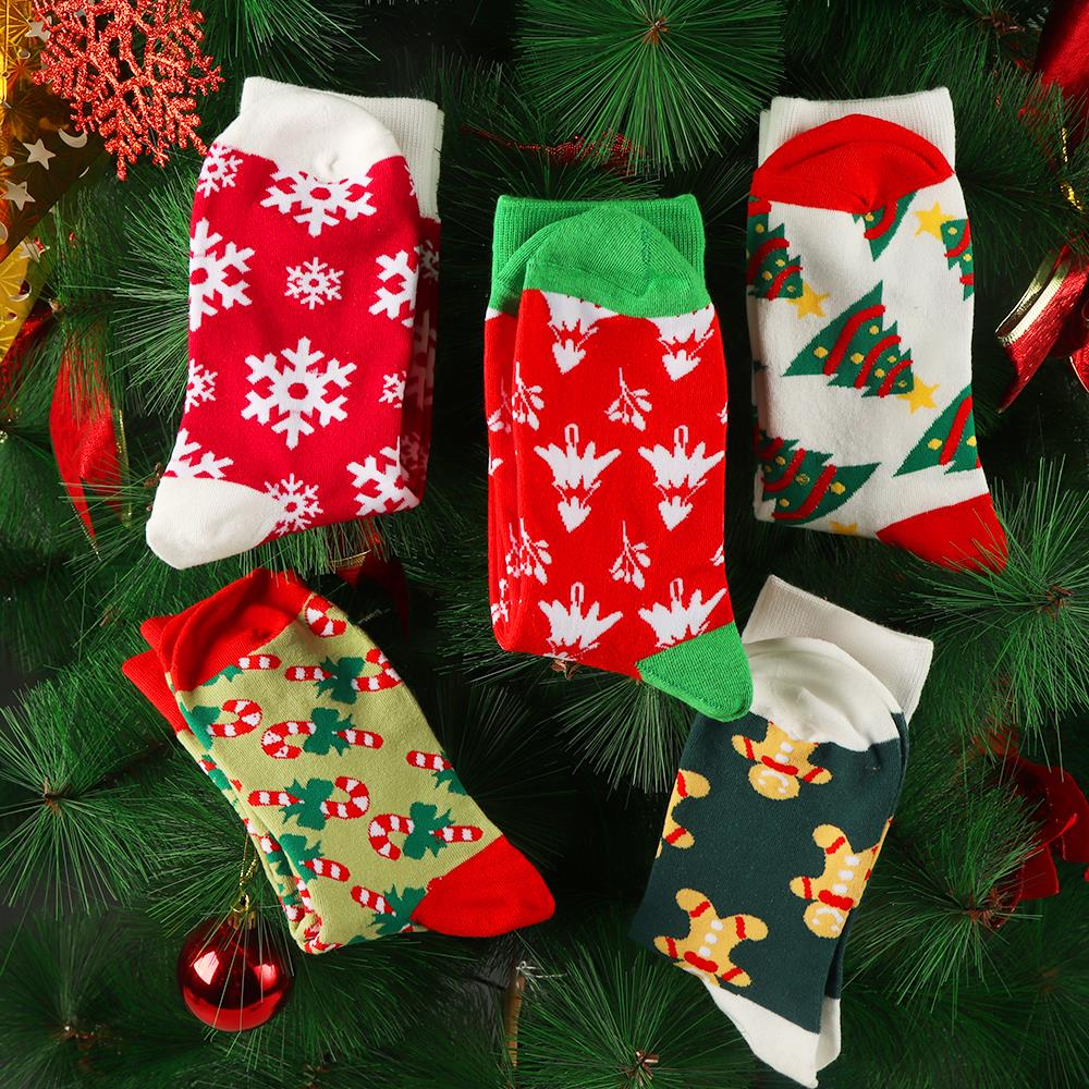 H79edb3d3a1f0417a8d3533db20d80ed1W - 1pair Fashion Christmas Socks Women Cartoon Funny Cute Winter Female & Hosiery Cotton Square Foot Personality Socks Harajuku