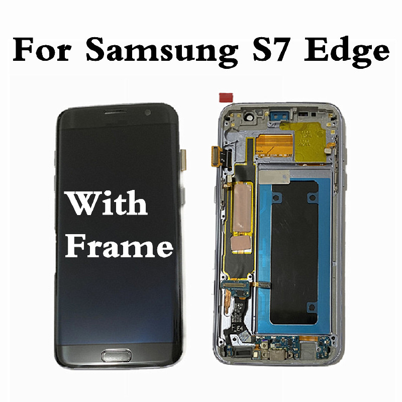 For <font><b>Samsung</b></font> Galaxy S7 Edge Screen <font><b>LCD</b></font> Display Screen For S7 Edge <font><b>G935</b></font> Touch Screen Digitizer For <font><b>Samsung</b></font> S7 Edge G935F Display image