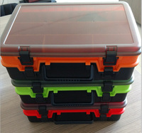 A Flat Fishing Gear H458a Lure Double Layer Portable Box Pp Raw Materials Toolbox Fishing Box Bait Box