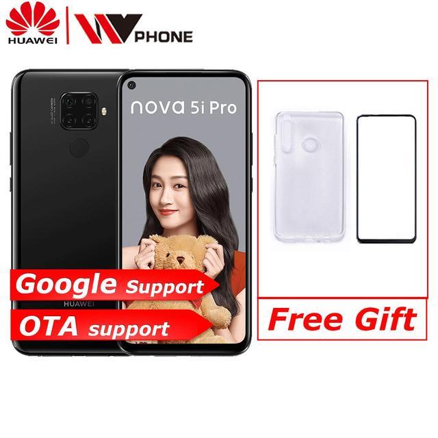Huawei Nova 5i Pro Smartphone  Google play 6.26 inch 8GB 128GB Kirin 810 Octa Core 4000mAh Fingerprint 48MP Quad Camera