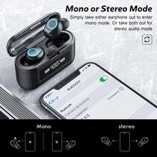 Ecouteur Bluetooth avec Microphone sport imperméable tactile pour téléphone