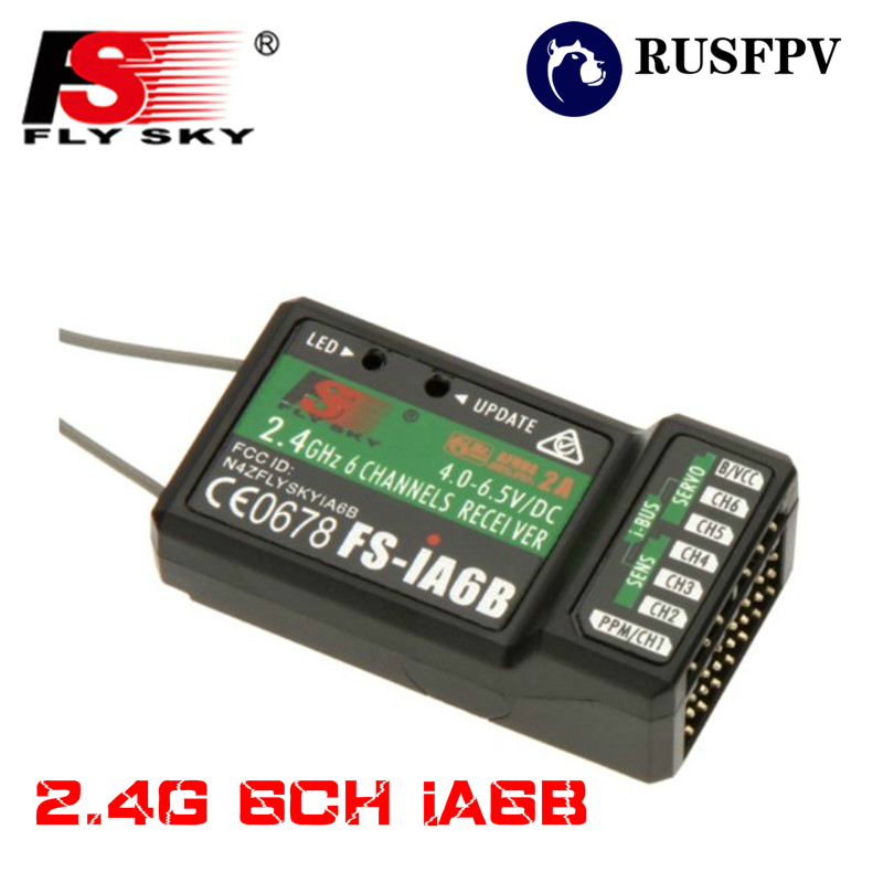 Flysky ia6b 2.4g 6ch ppm saída com porta ibus receptor para flysky FS-i6 FS-i10 i6x i6s avião fpv corrida zangão transmissor