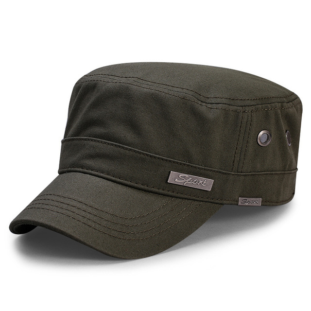Spring Big Head Man Large Size Army Flat Cap Men Summer Cotton Plus Size Mesh Military Hat 55 60cm 60 65cm