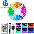 LED light strip 5050 USB 5V RGB light strip flexible remote control RGB TV desktop screen backlight diode with 1M-5M