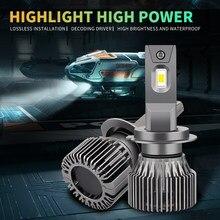 2x Car LED Headlight Canbus h1 h3 H11 9005 hb3 9006 hb4 h7 h4 light Bulb For toyota hilux avensis t25 auris chr wish verso prius