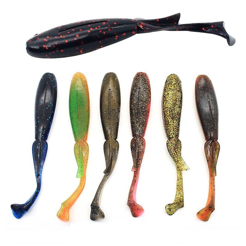 Wokotip 5pcs/lot 12cm/11g 10pcs/lot 8cm/3.4g Soft Lure Bait Fishing Lure Leurre Silicone Bait T tail Fishing Lures Shad