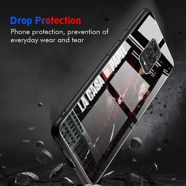 Spain TV La Casa de papel Tempered Glass Phone Case for Xiaomi Redmi K20 K30 Pro 5G 7 8A Note 7 8 8T 9 Pro 9S Funda Capa