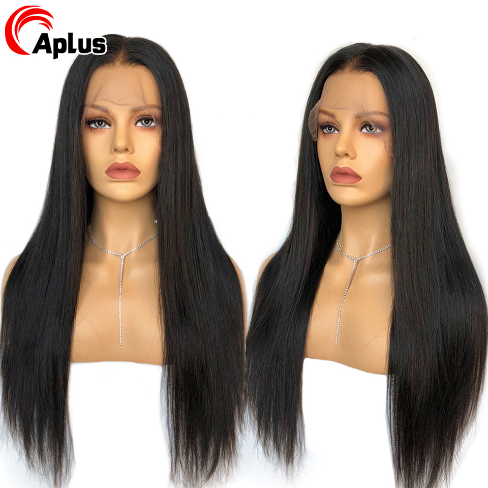 Transparent Glueless Human Hair Lace Wigs Pre Plucked Bleached Knotes 13*4 Remy Straight Lace Front Wig With Baby Hair
