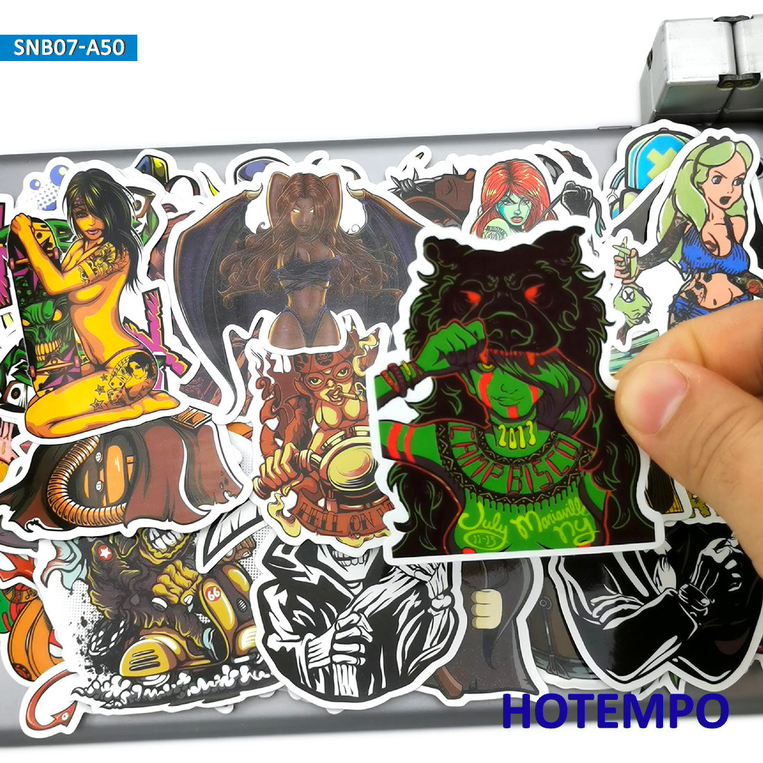 50pcs Punk Rock Graffiti Mix Weird Funny Fashion Stickers For Mobile Phone Laptop Luggage Skateboard Bike Car Art Style Stickers