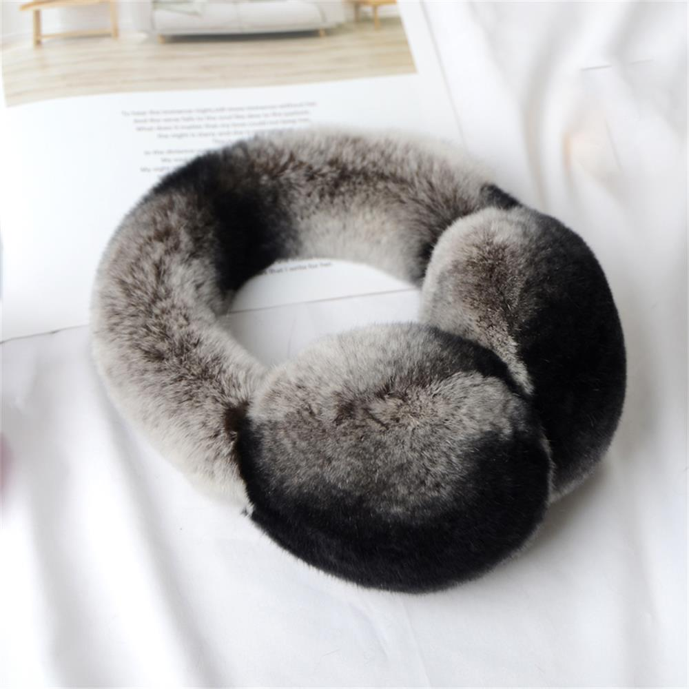 2019 Winter Warm Fur Rabbit Earphones Rex Earmuffs Plush Earphones For Girls Women Hair Hoops Rhinestone Earrings Clutches Warm