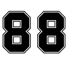CS-10177 # مضحك ملصق حائط من الفينيل عدد 88 سيارة ملصقا عاكسة مقاوم للماء السيارات الديكورات على شاحنة الوفير النافذة الخلفية