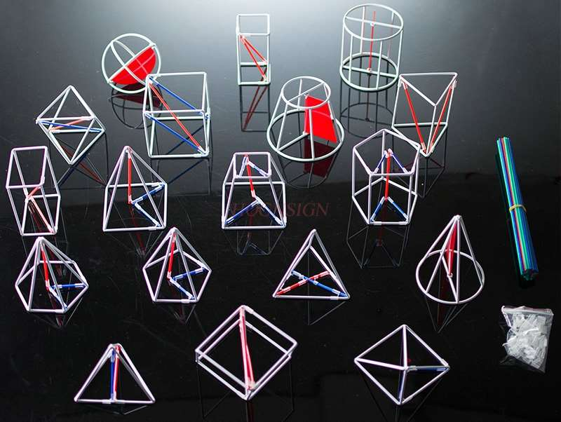 Three-dimensional Geometry Demonstration Model Math Teaching Aids Dual-use Volume Surface Area
