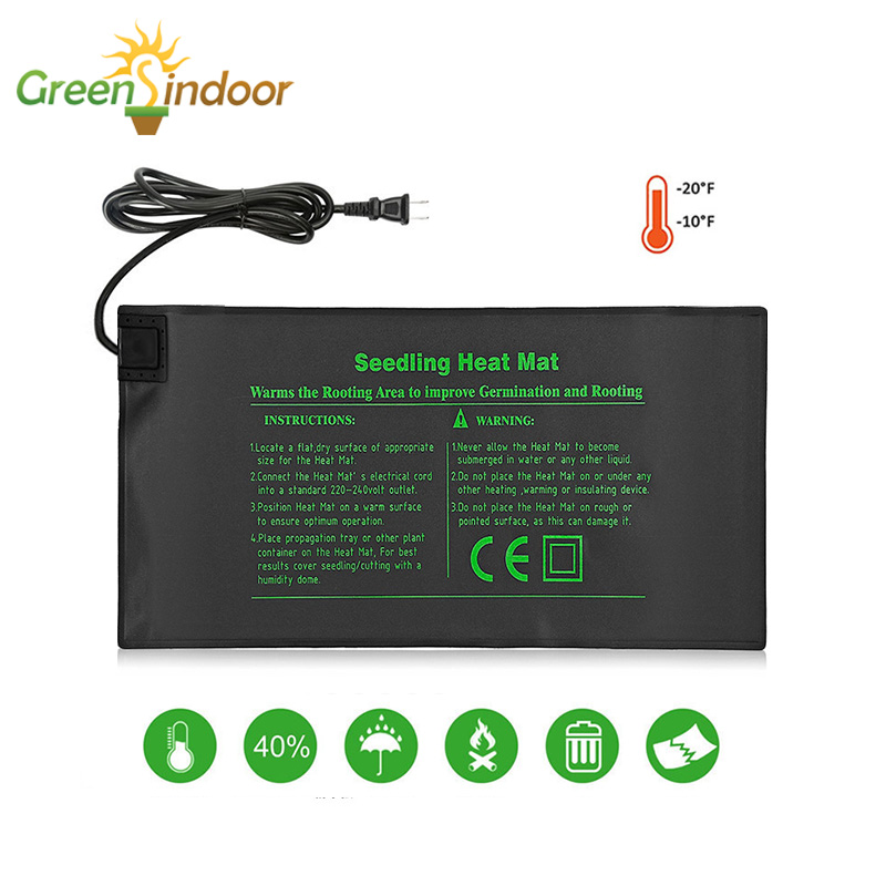 Grow Mat For Indoor Plant Winter Warm Electric Seedling Heat Mat 24x52cm Seed Tray Heating Pad Garden Flower Growing Germination