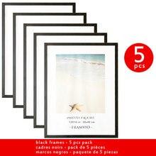 5pcs 30x40 cm A4 cornice per foto classica metallo Plexiglass nero opaco bianco stampa Poster Wall Art Canvas Painting Home Decor