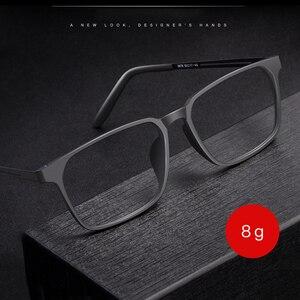 Image 1 - Okulary optyczne rama dla mężczyzn i kobiet 8878 Titanium elastyczne nogi z TR 90 plastikowe oprawki okularowe z przodu obręczy