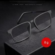 Optische Brillen Rahmen für Männer und Frauen 8878 Titan Flexible Beine mit TR 90 Kunststoff Front Felgen Brillen Brillen Rahmen