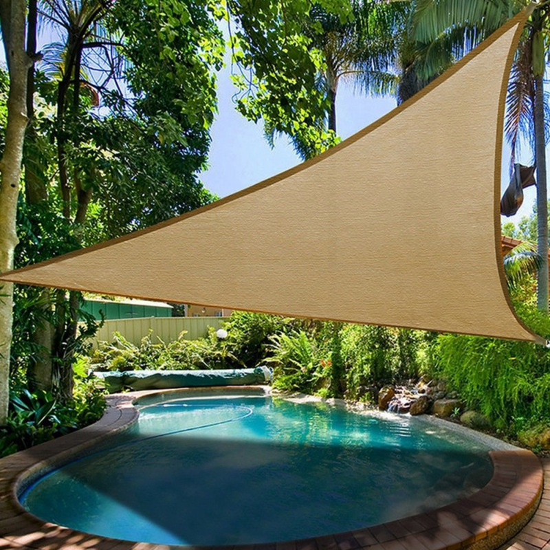 Sun Shade Sail Protection Canopy Garden Patio Pool Shade Sail Camping Picnic Tent Awning W/1800D Outdoor Wind Rope|Shade Sails & Nets| |  - title=