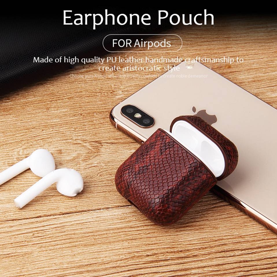 Mini Original Earphone Case Cover for Airpods Apple 11 Case Funda Airpod Case Luxury PU Leather Cases Shockproof Bag 2019 New (4)