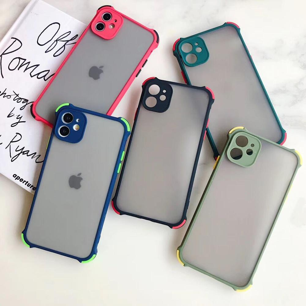 LOVECOM Shockproof Phone Case For IPhone 11 Pro Max XR XS Max 7 8 Plus X Luxury Camera Protection Matte TPU Frame Back Cover