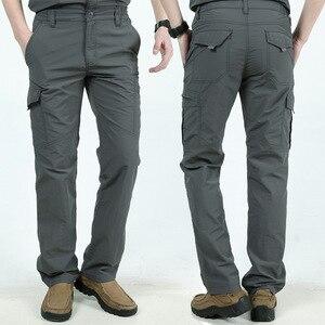 Image 3 - Мужские брюки для походов на открытом воздухе, мужские летние брюки для скалолазания, рыбалки, быстросохнущие спортивные водонепроницаемые брюки в армейском стиле, AM005