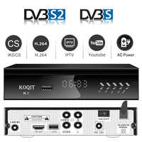 Koqit K1 Metal servidor Receptor DVB S2 HD decodificador libre caja de TV satélite Internet Receptor de satélite de Iptv m3u Youtube sintonizador