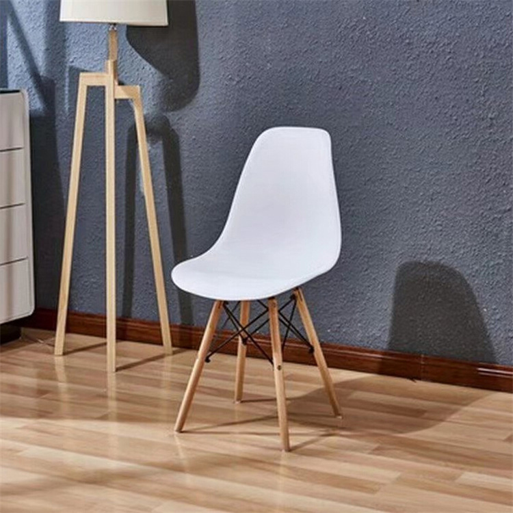 Northern European-Style Chair Eames Chair Northern European-Style Creative Casual Coffee Shop Household Dining Chair Plastic Arm