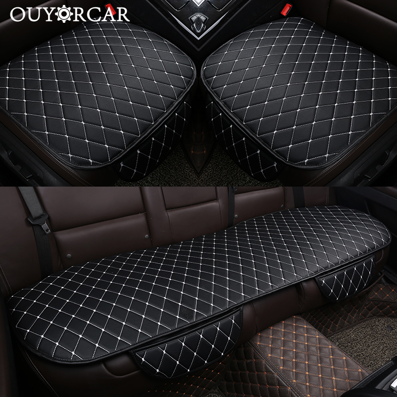 Automobiles Seat Covers Car Cushion PU Leather Universal Auto Interior Accessories Four Season Protect Set Chair Mat Car styling