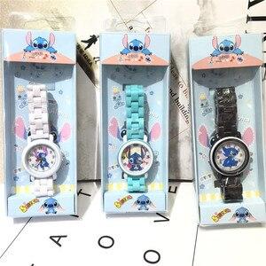 Детские часы со звездами и стичем, водонепроницаемые кварцевые часы для мальчиков и девочек, подарок на день рождения, 3 шт.