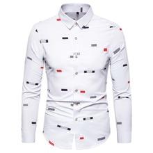 Long Sleeve Shirt Autumn New Men's Fashion Print Long Sleeve Shirt Men's Cotton Casual Slim Large Size Long Sleeve Shirt S-5XL casual flower print long sleeve shirt