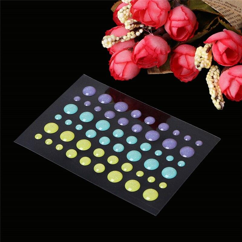 Enamel Dot Self Adhesive Embellishment For Cardmaking And Craft Scrapbook DIY Y1QB